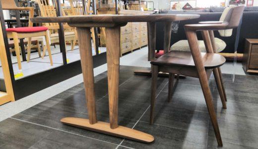 飛騨産業のオーダーダイニング「侭」に新たな脚「V脚」が登場!2本脚なのにすっきり見える秘密とは!?