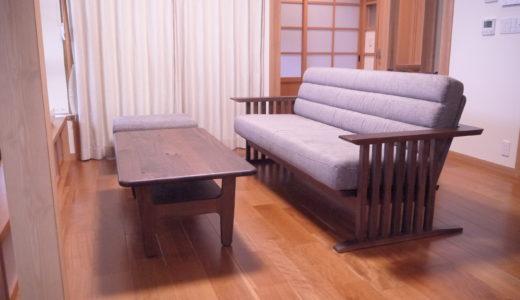 【飛騨産業の納品事例⑫】縦格子が素敵なセバスチャン コンランシリーズのソファとダイニング